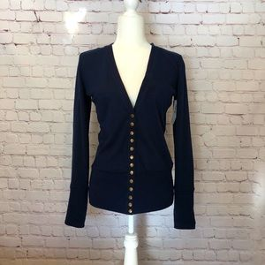 Color Story Navy Blue Cardigan Sweater - NWT
